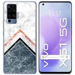 Funda Gel Tpu para Vivo X51 5G diseño Mármol 05 Dibujos