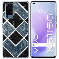 Funda Gel Tpu para Vivo X51 5G diseño Mármol 06 Dibujos