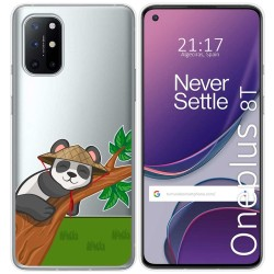 Funda Gel Transparente para OnePlus 8T 5G diseño Panda Dibujos