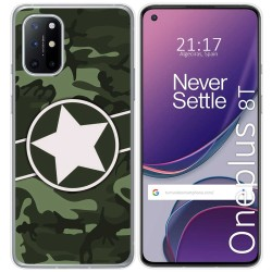 Funda Gel Tpu para OnePlus 8T 5G diseño Camuflaje 01 Dibujos