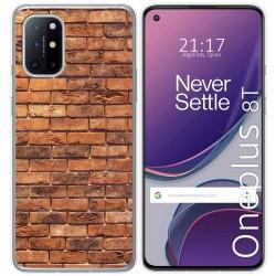 Funda Gel Tpu para OnePlus 8T 5G diseño Ladrillo 04 Dibujos