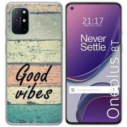 Funda Gel Tpu para OnePlus 8T 5G diseño Madera 01 Dibujos