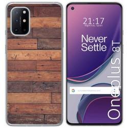 Funda Gel Tpu para OnePlus 8T 5G diseño Madera 03 Dibujos