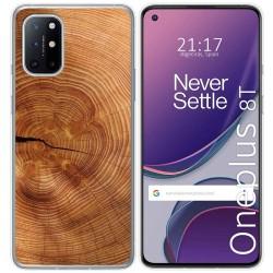 Funda Gel Tpu para OnePlus 8T 5G diseño Madera 04 Dibujos