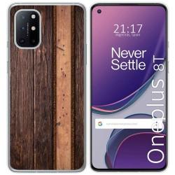 Funda Gel Tpu para OnePlus 8T 5G diseño Madera 05 Dibujos