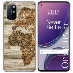 Funda Gel Tpu para OnePlus 8T 5G diseño Madera 07 Dibujos