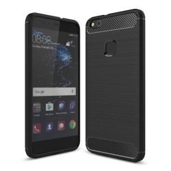 Funda Gel Tpu Tipo Carbon Negra para Huawei P10 Lite