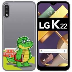 Funda Gel Transparente para Lg K22 diseño Coco Dibujos