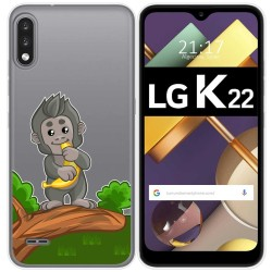Funda Gel Transparente para Lg K22 diseño Mono Dibujos