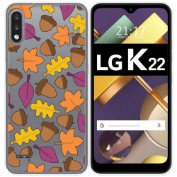 Funda Gel Transparente para Lg K22 diseño Otoño Dibujos