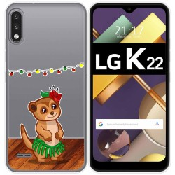 Funda Gel Transparente para Lg K22 diseño Suricata Dibujos