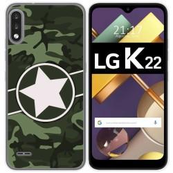 Funda Gel Tpu para Lg K22 diseño Camuflaje 01 Dibujos