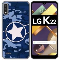 Funda Gel Tpu para Lg K22 diseño Camuflaje 03 Dibujos