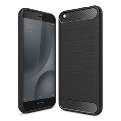 Funda Gel Tpu Tipo Carbon Negra para Xiaomi Mi 5C