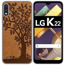 Funda Gel Tpu para Lg K22 diseño Cuero 03 Dibujos