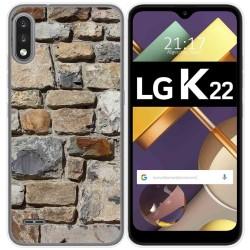 Funda Gel Tpu para Lg K22 diseño Ladrillo 03 Dibujos