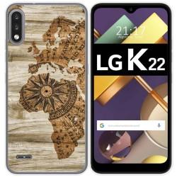 Funda Gel Tpu para Lg K22 diseño Madera 07 Dibujos