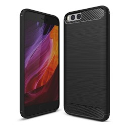 Funda Gel Tpu Tipo Carbon Negra para Xiaomi Mi6