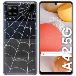 Funda Gel Transparente para Samsung Galaxy A42 5G diseño Araña Dibujos