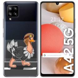 Funda Gel Transparente para Samsung Galaxy A42 5G diseño Avestruz Dibujos