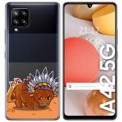 Funda Gel Transparente para Samsung Galaxy A42 5G diseño Bufalo Dibujos