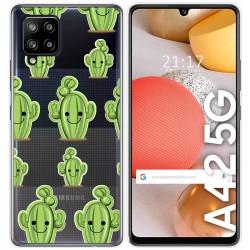 Funda Gel Transparente para Samsung Galaxy A42 5G diseño Cactus Dibujos