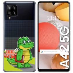 Funda Gel Transparente para Samsung Galaxy A42 5G diseño Coco Dibujos