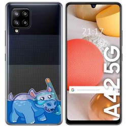 Funda Gel Transparente para Samsung Galaxy A42 5G diseño Hipo Dibujos