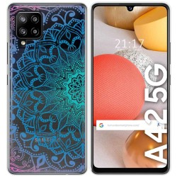 Funda Gel Transparente para Samsung Galaxy A42 5G diseño Mandala Dibujos