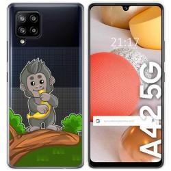 Funda Gel Transparente para Samsung Galaxy A42 5G diseño Mono Dibujos