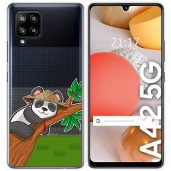 Funda Gel Transparente para Samsung Galaxy A42 5G diseño Panda Dibujos