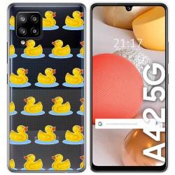 Funda Gel Transparente para Samsung Galaxy A42 5G diseño Pato Dibujos
