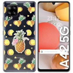 Funda Gel Transparente para Samsung Galaxy A42 5G diseño Piña Dibujos