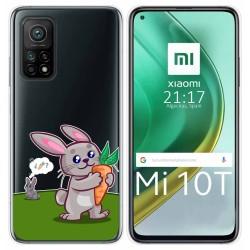 Funda Gel Transparente para Xiaomi Mi 10T / 10T Pro diseño Conejo Dibujos