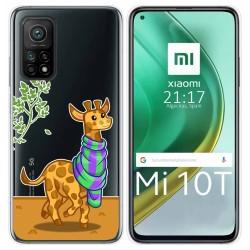 Funda Gel Transparente para Xiaomi Mi 10T / 10T Pro diseño Jirafa Dibujos