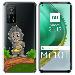 Funda Gel Transparente para Xiaomi Mi 10T / 10T Pro diseño Mono Dibujos