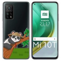Funda Gel Transparente para Xiaomi Mi 10T / 10T Pro diseño Panda Dibujos