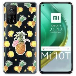 Funda Gel Transparente para Xiaomi Mi 10T / 10T Pro diseño Piña Dibujos