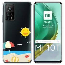 Funda Gel Transparente para Xiaomi Mi 10T / 10T Pro diseño Playa Dibujos