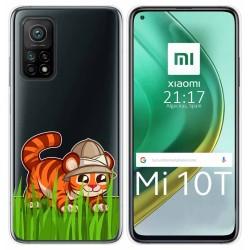 Funda Gel Transparente para Xiaomi Mi 10T / 10T Pro diseño Tigre Dibujos