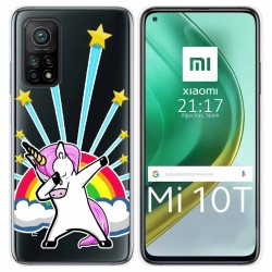 Funda Gel Transparente para Xiaomi Mi 10T / 10T Pro diseño Unicornio Dibujos