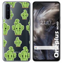 Funda Gel Transparente para OnePlus Nord diseño Cactus Dibujos