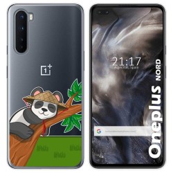 Funda Gel Transparente para OnePlus Nord diseño Panda Dibujos