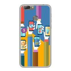 Funda Gel Tpu para Oukitel U20 Plus Diseño Apps Dibujos