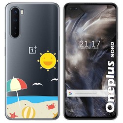Funda Gel Transparente para OnePlus Nord diseño Playa Dibujos