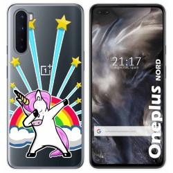 Funda Gel Transparente para OnePlus Nord diseño Unicornio Dibujos