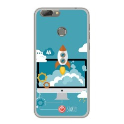 Funda Gel Tpu para Oukitel U20 Plus Diseño Cohete Dibujos