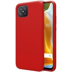 Funda Silicona Líquida Ultra Suave para Oppo Reno 4Z 5G color Roja