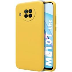 Funda Silicona Líquida Ultra Suave para Xiaomi Mi 10T Lite color Amarilla