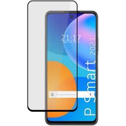 Protector Cristal Templado Completo 5D Full Glue Negro para Huawei P Smart 2021 Vidrio